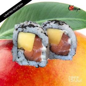 Uramaki de Mango y Salmón (8P)