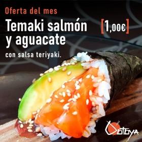 Temaki salmón y aguacate con salsa teriyaki por 1euro